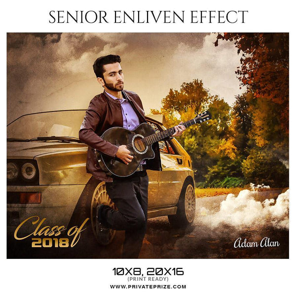 Adam Alan Senior Enliven Effect - Photography Photoshop Template