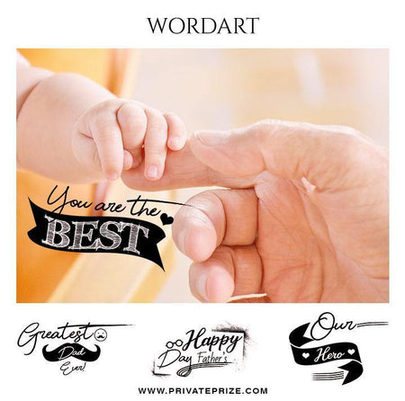 You are the best father's day word art - Designer Pearls