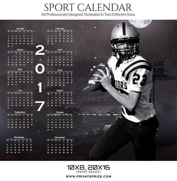 Aim 2017 Signature Calendar - Photography Photoshop Templates