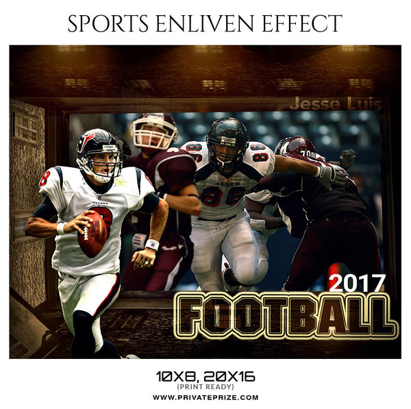 Jesse Luis Football-Sports Enliven Effect - Photography Photoshop Template
