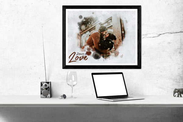 Season of love - Valentines Easy Effects Templates - Photography Photoshop Template
