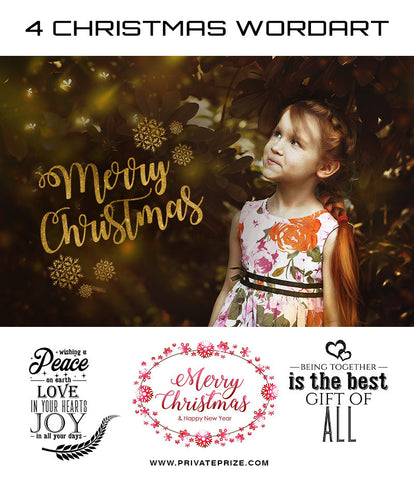 Christmas Wordart - Photography Photoshop Templates