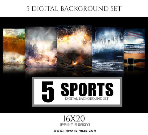 5 Sports Digital Background Set
