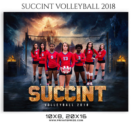 Succint-Volleyball-2018 Themed Sports Photography Template - Photography Photoshop Template