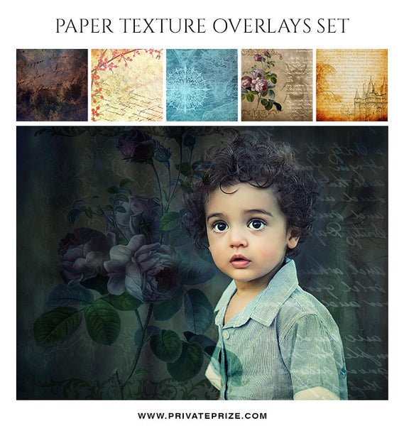 Paper Texture Overlay Set - PrivatePrize Photography Photoshop Templates