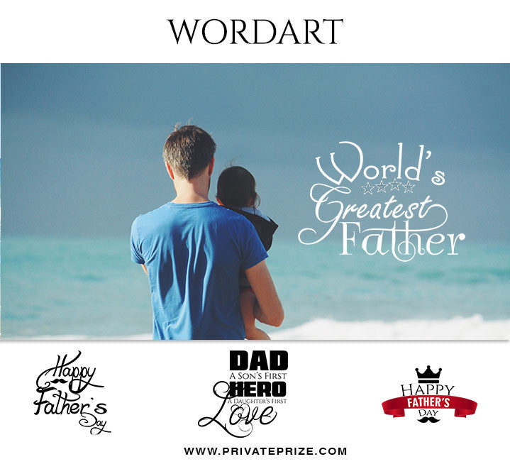 Fathers Day Wordart Set 2 - Designer Pearls - Photography Photoshop Template