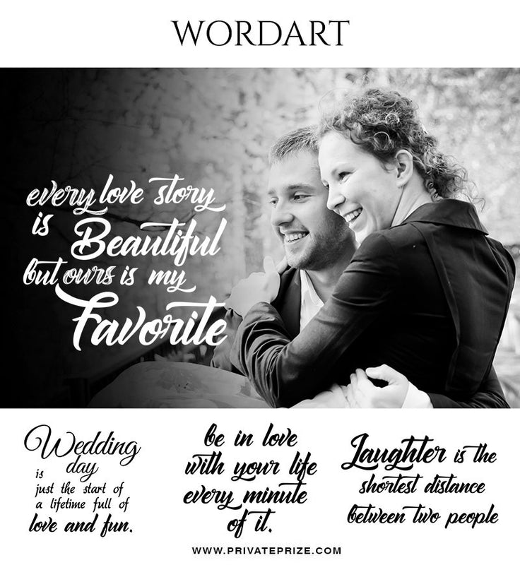 Tender Wordart- Designer Pearls - Photography Photoshop Template