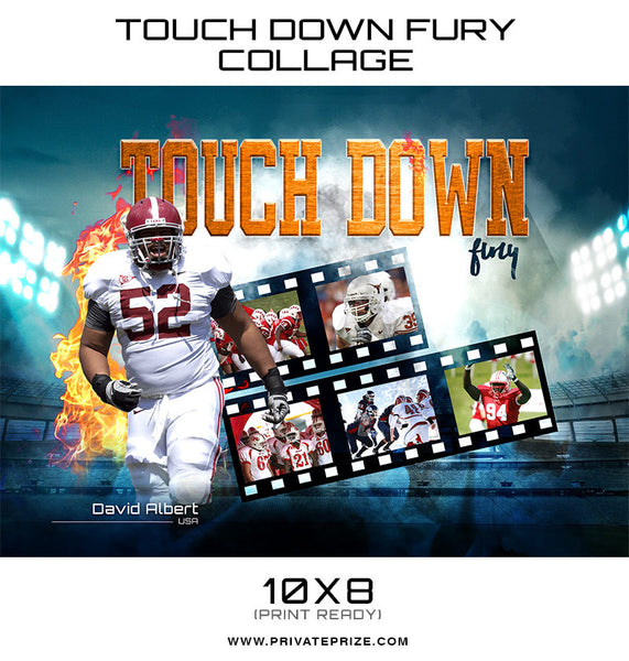 Touch Down Themed Sports Template - Photography Photoshop Templates