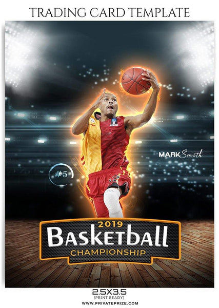 Mark Smith Trading Card - Basketball Sports Photoshop Template