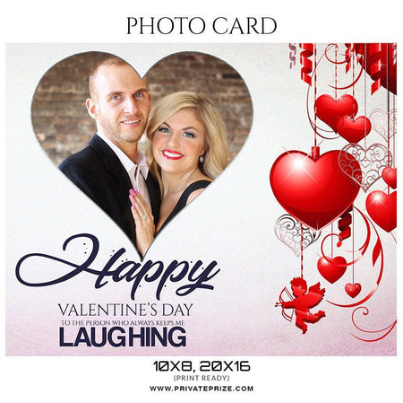 Valentine's Day - Photo Card - Photography Photoshop Template
