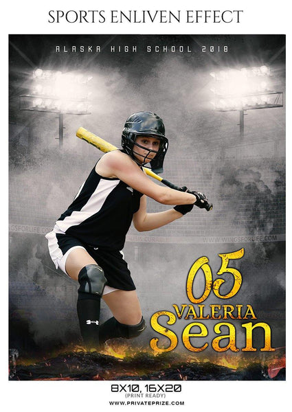 Valeria Sean Alaska High School Softball Sports Template - Enliven Effects