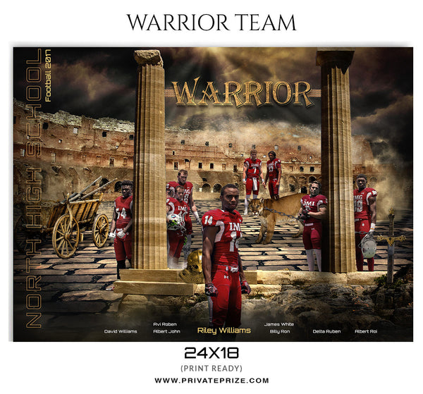 The Warriors Themed Sports Template - Photography Photoshop Template