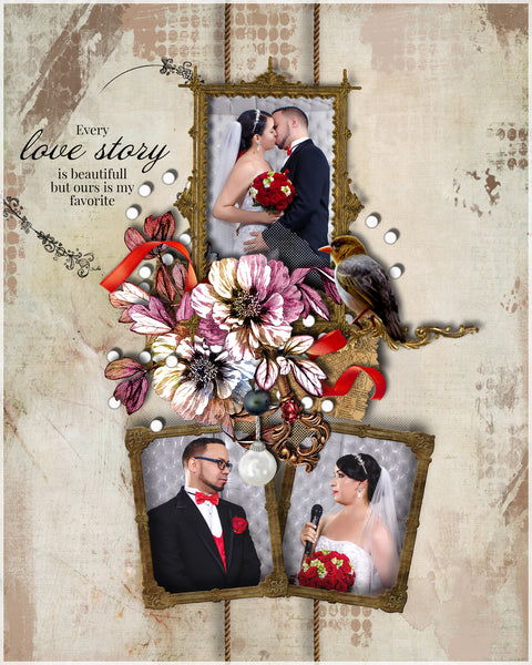 Wedding Collage Set - Always Love - Photography Photoshop Templates