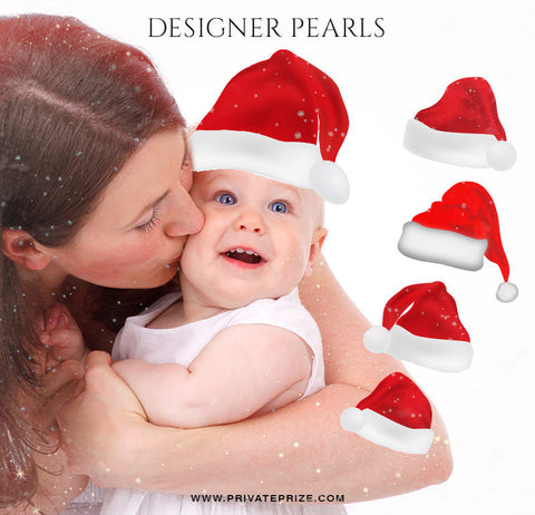 Christmas Hat Designer Pearl set - Photography Photoshop Templates