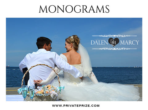 Dalen & Marcy -  Wedding Monograms - Photography Photoshop Template