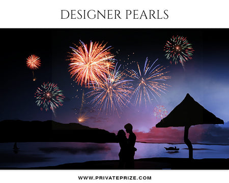 Sparkling Fire Work  - Designer Pearls - Photography Photoshop Template