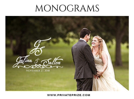 Galina & Salton -  Wedding Monograms - Photography Photoshop Template