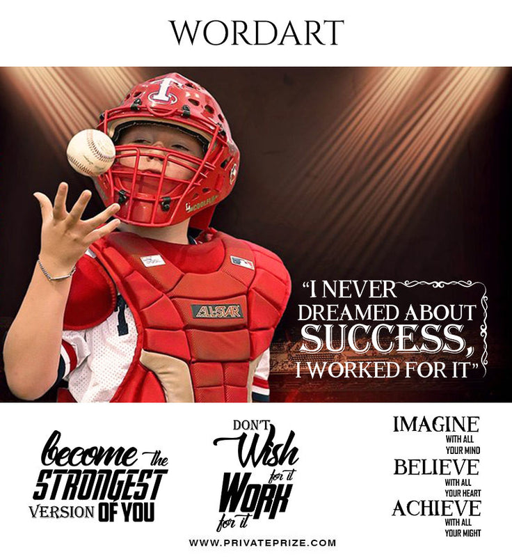 Strength Wordart- Designer Pearls - Photography Photoshop Template