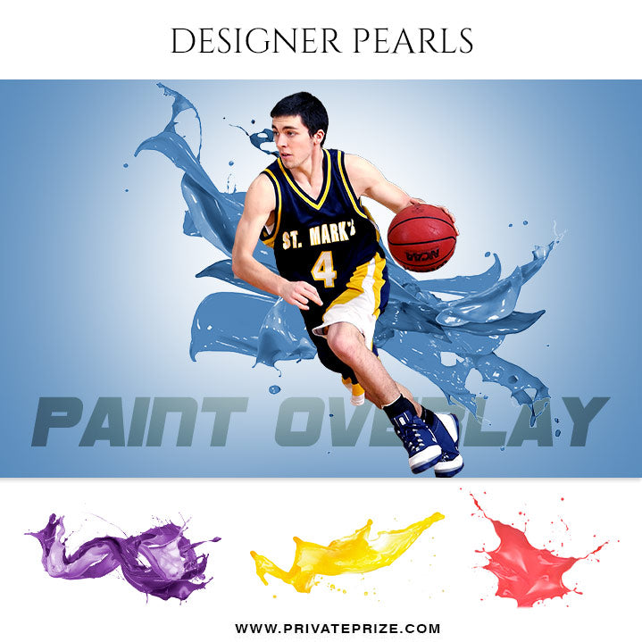 Paint Splash - Designer Pearls - Photography Photoshop Template