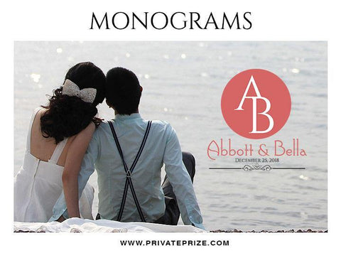 Abbott & Bella -  Wedding Monograms - Photography Photoshop Template