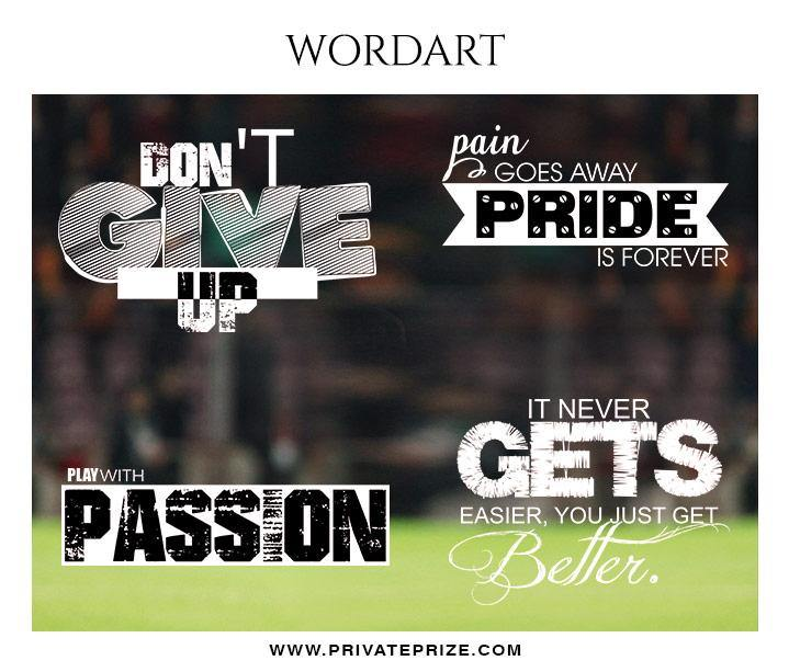 Sports Wordart - Designer Pearls