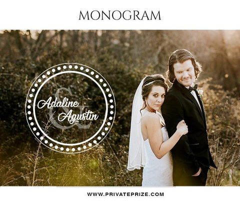 Adaline And Agustin - Wedding Monograms - Photography Photoshop Template
