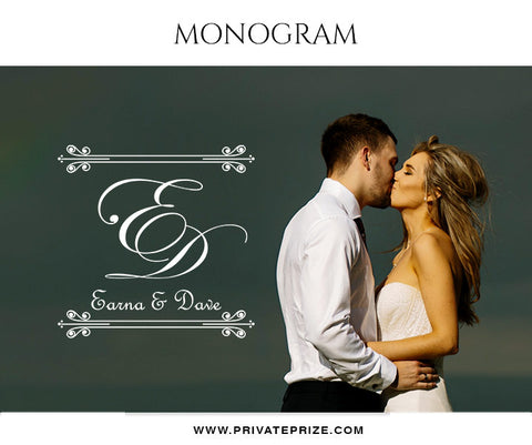 Earna And Dave - Wedding Monograms - Photography Photoshop Template
