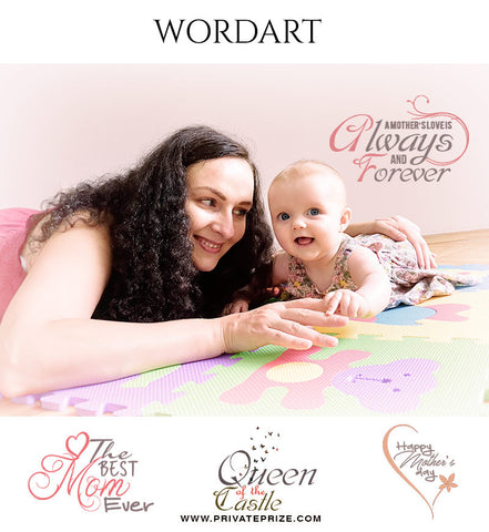 MOTHER'S DAY WORDART - Photography Photoshop Template
