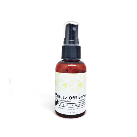 Buzz Off! Spray (60ml) - Bottle of Wellness | HOMEMADE & NATURAL WELLNESS IN A BOTTLE. NO NASTIES!