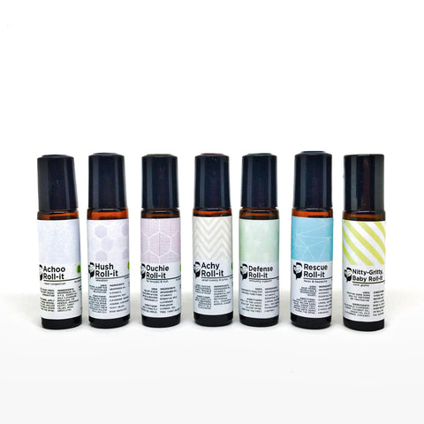 Complete ON-THE-GO Kit (any 7 roll-ons) - Bottle of Wellness | HOMEMADE & NATURAL WELLNESS IN A BOTTLE. NO NASTIES!