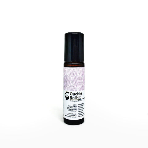 Ouchie Roll-it (10ml) - Bottle of Wellness | HOMEMADE & NATURAL WELLNESS IN A BOTTLE. NO NASTIES!