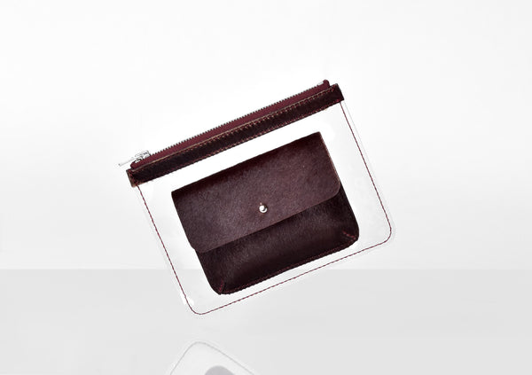 Barnett Wallet dark red hairy leather