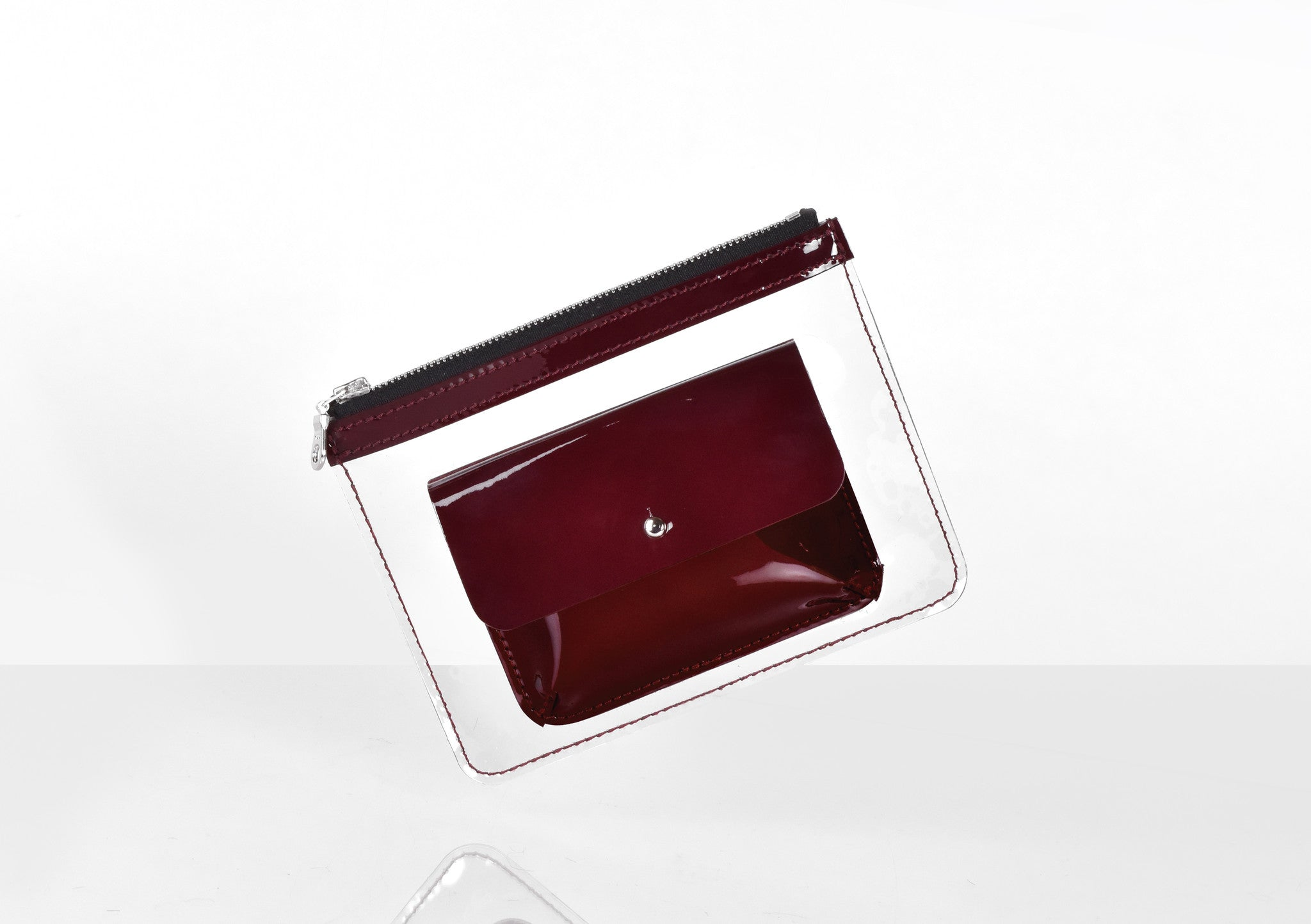 Barnett Wallet dark red patent leather