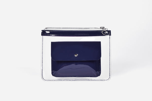 Barnett Wallet dark blue patent leather