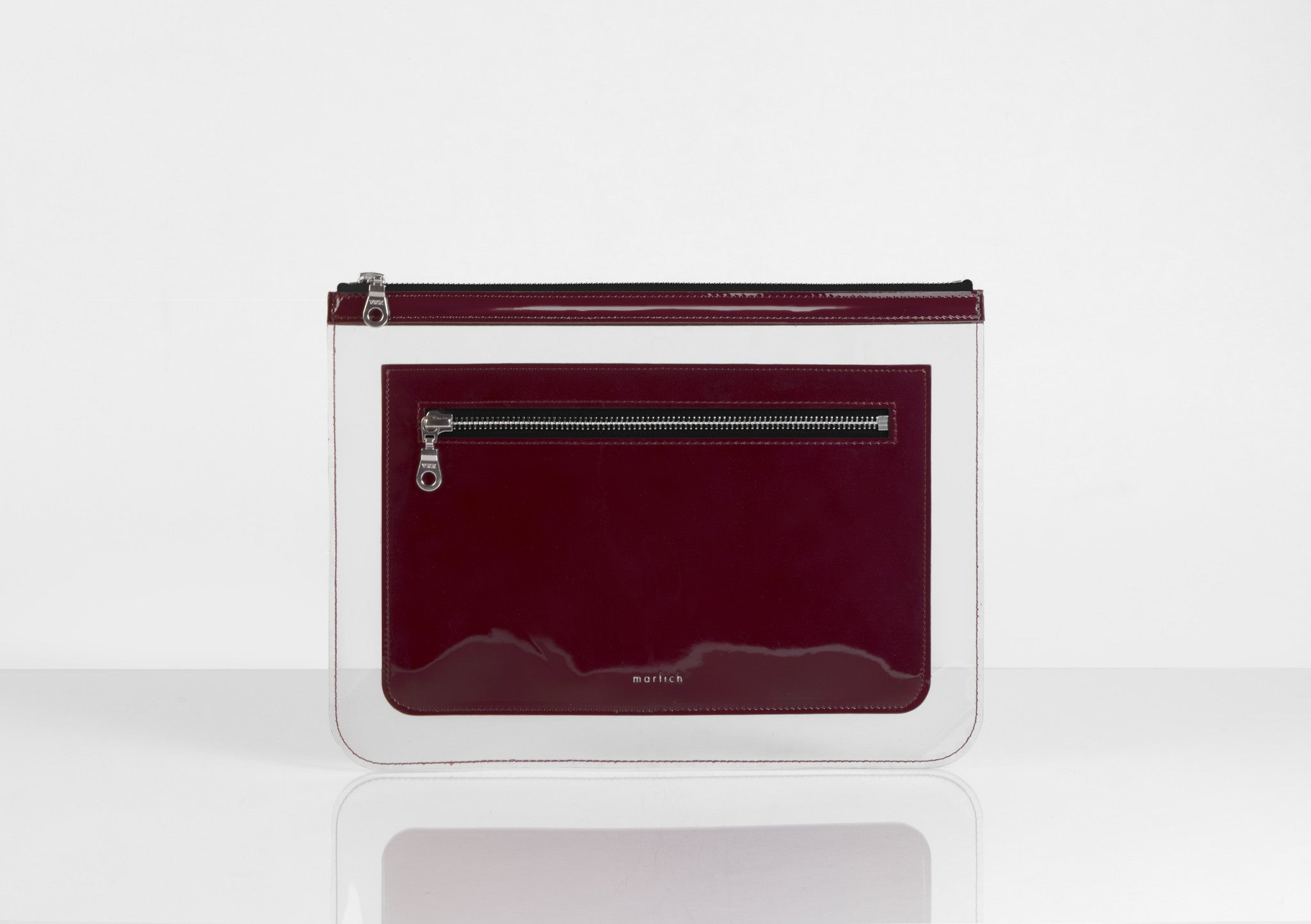 Barnett Clutch dark red patent leather