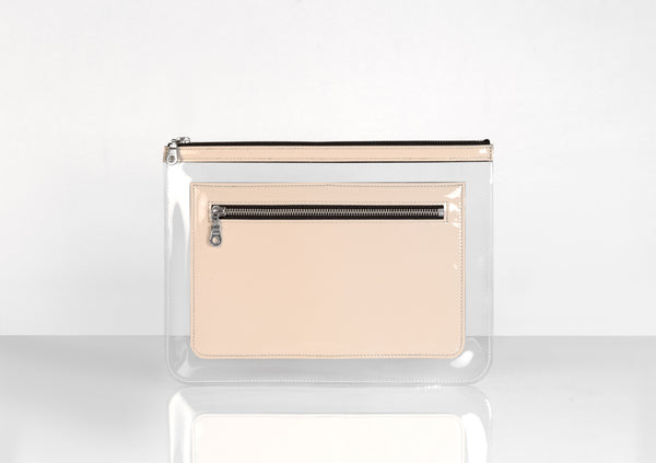 Barnett Clutch nude patent leather