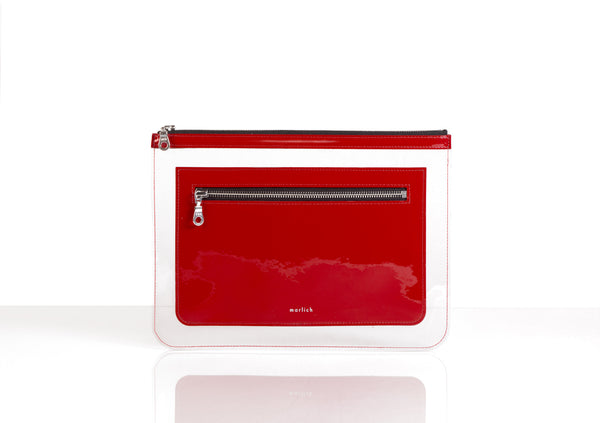 Barnett Clutch red patent leather