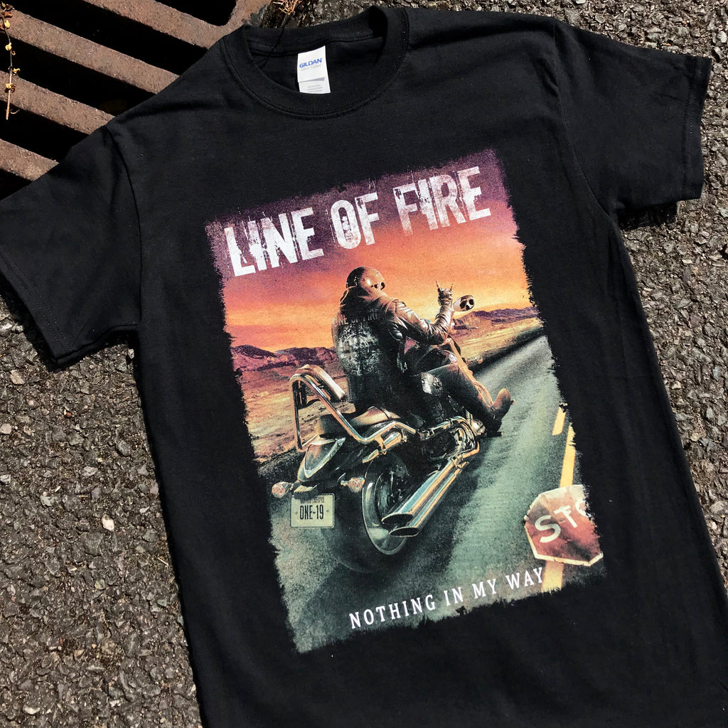 Banging 9 colour print for Line Of Fire.