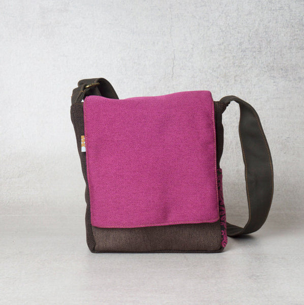 The Junior Bag- Fuchsia Pink Crossbody Bag