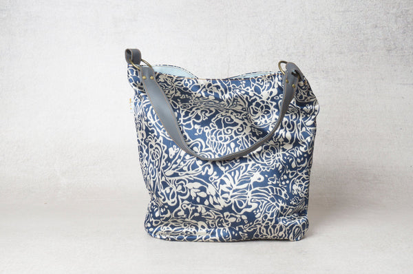 The May Bag- White And Blue Shoulder Bag