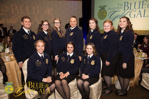 State FFA Officers at Gala