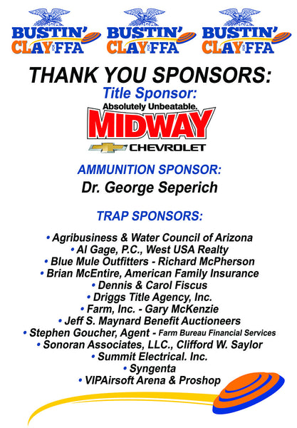 Trap Shoot Sponsors 2017