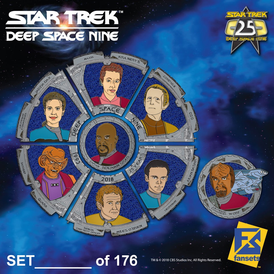 Star Trek Deep Space Nine 25th Anniversary Pin Set - DOMESTIC ORDERS