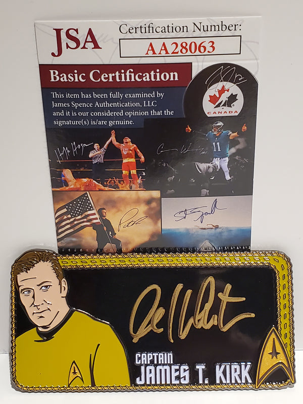 Star Trek Autograph Pin: William Shatner