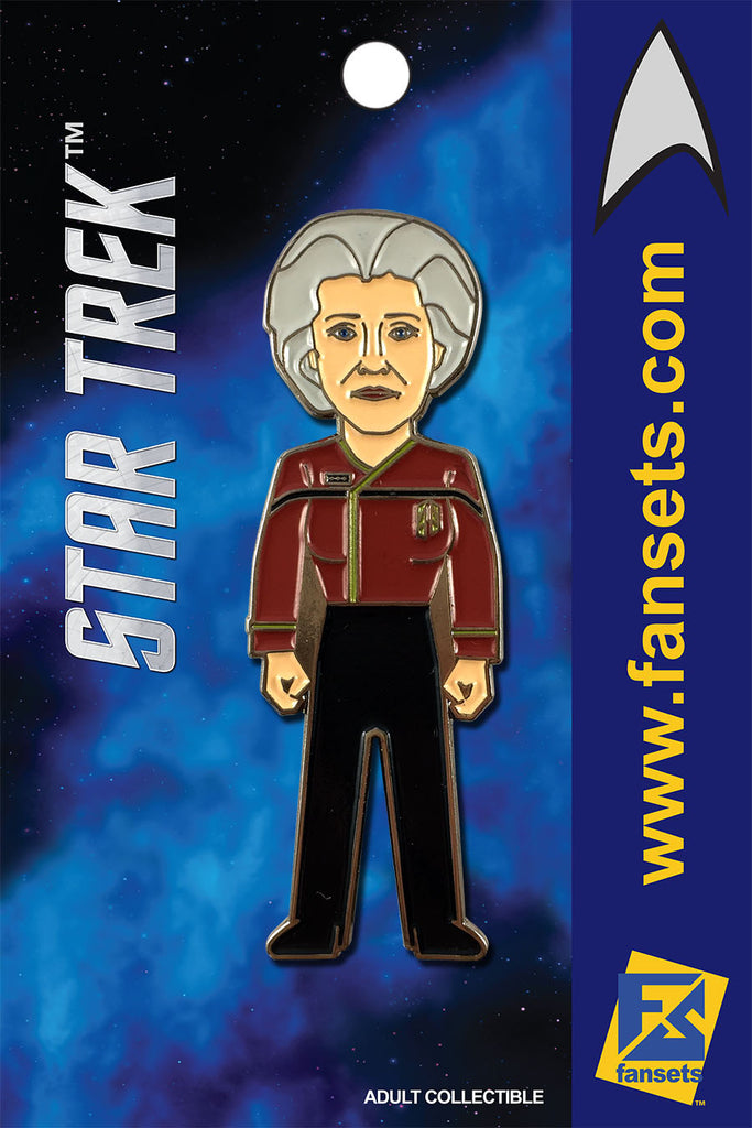 Star TreK ADMIRAL JANEWAY Licensed FanSets MicroCrew Collector's Pin