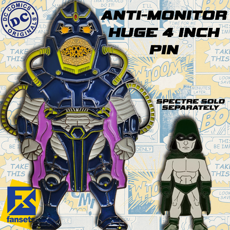 DC Comics Classic ANTI-MONITOR Licensed FanSets Pin MicroJustice