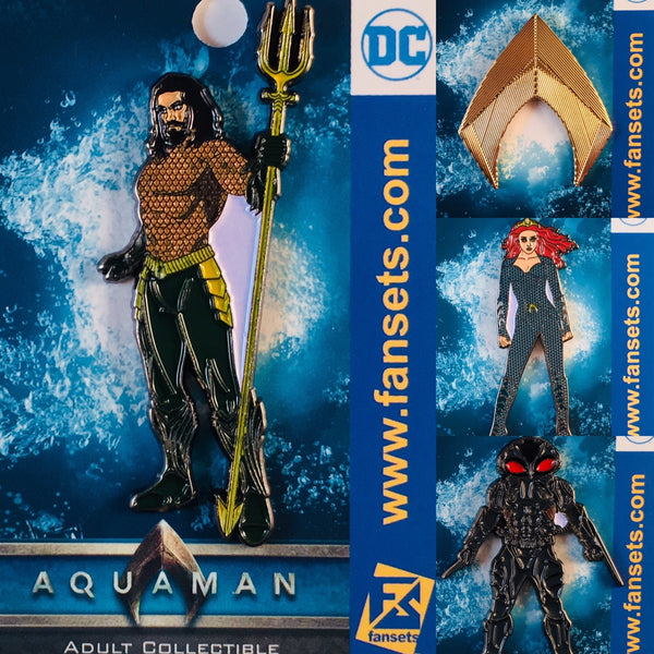 DC Comics AQUAMAN MOVIE LOGO Licensed FanSets Pin MicroJustice