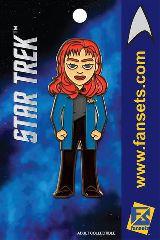 Star Trek DR. BEVERLY CRUSHER Licensed FanSets MicroCrew Collector's Pin