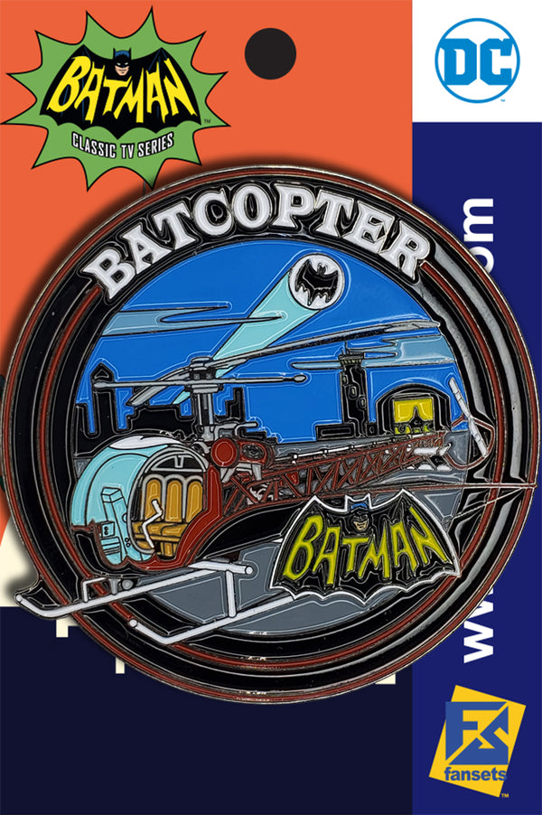 DC Comics Batman 1966 Collection BATCOPTER Licensed FanSets Pin MicroJustice