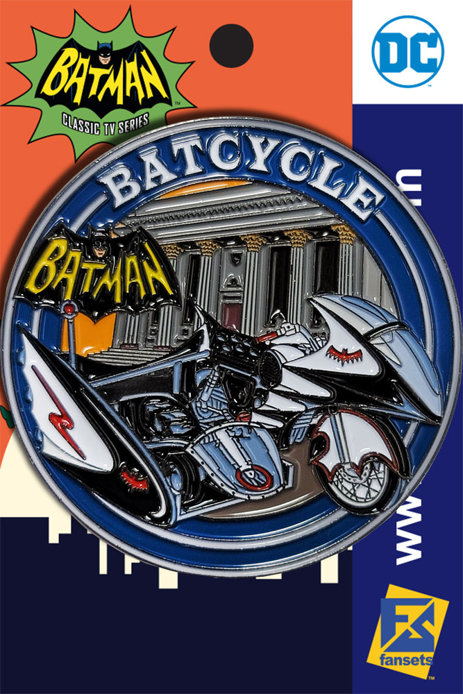 DC Comics Batman 1966 Collection BATCYCLE Licensed FanSets Pin MicroJustice